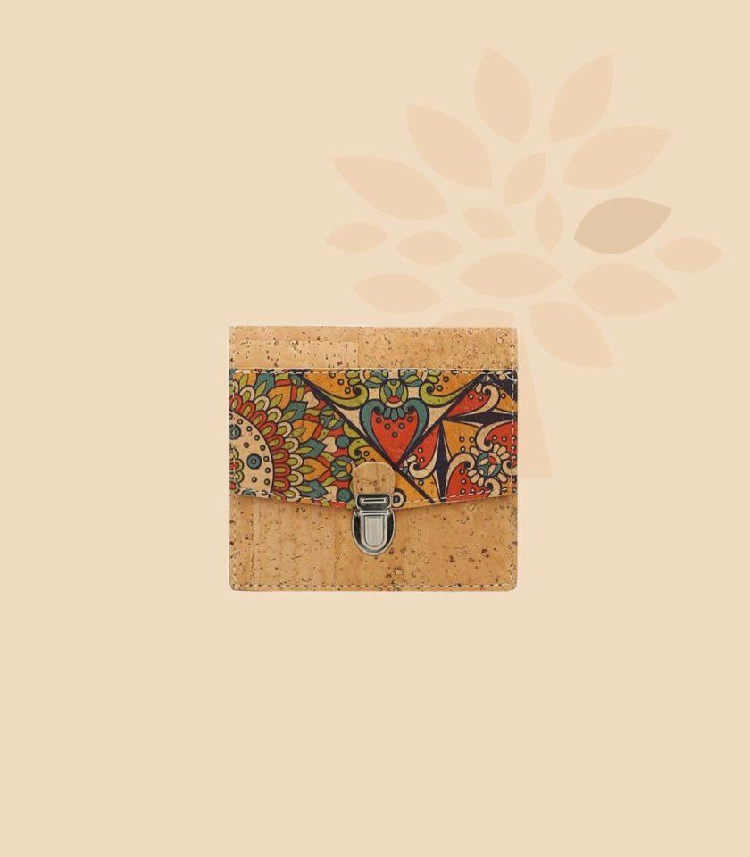 Portefeuille en liège modèle Oxylus motifs portugais face
