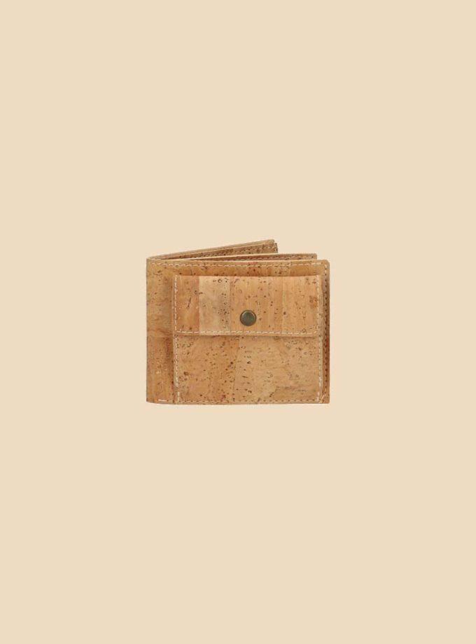 Portefeuille en liège modèle Brahma vue face couleur naturel