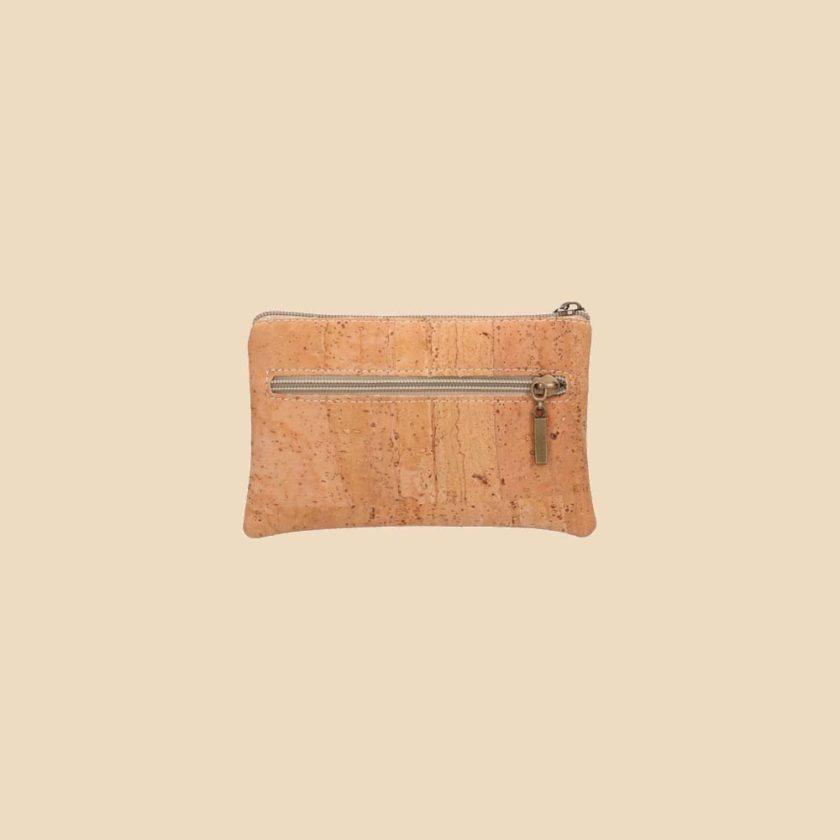 Portefeuille en liège modèle Dokkaebi vue dos couleur rouge