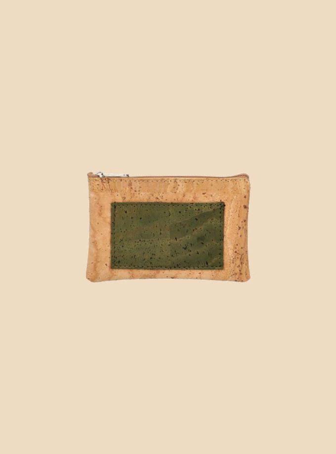 Portefeuille en liège modèle Sherwood vue face couleur forêt